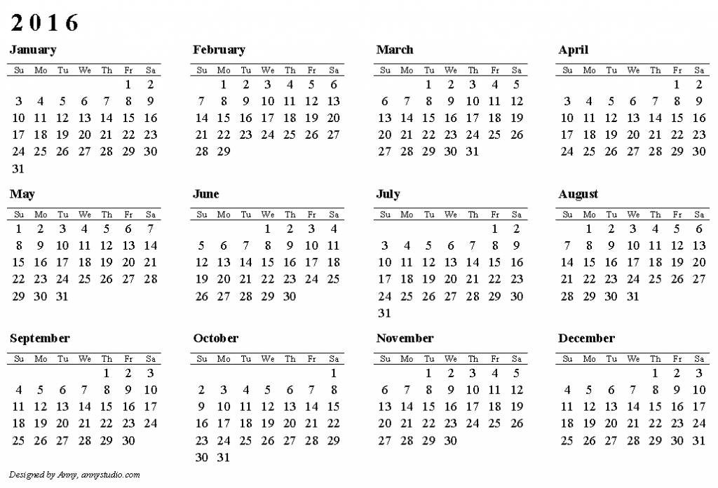 Make Your Own Calendar Online To Print