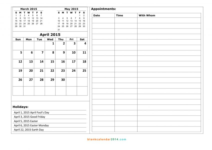 Online Scheduling Calendar Printable Appointment Calendars Planner