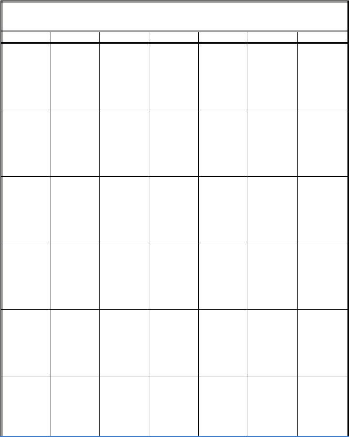 Printable Blank Calendars Templates