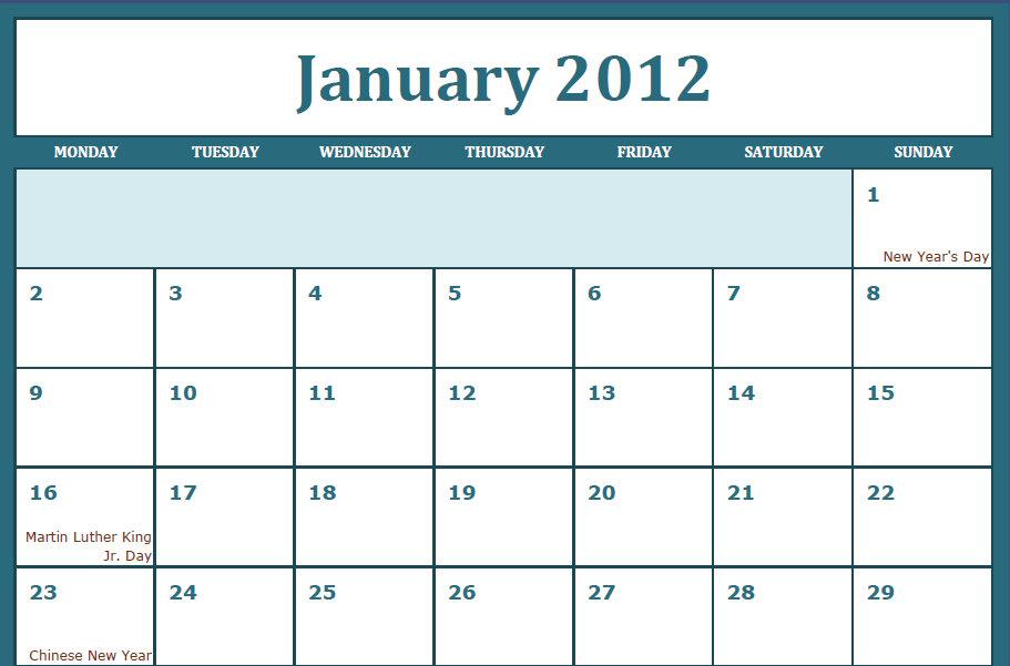 Printable Pdf Calendar