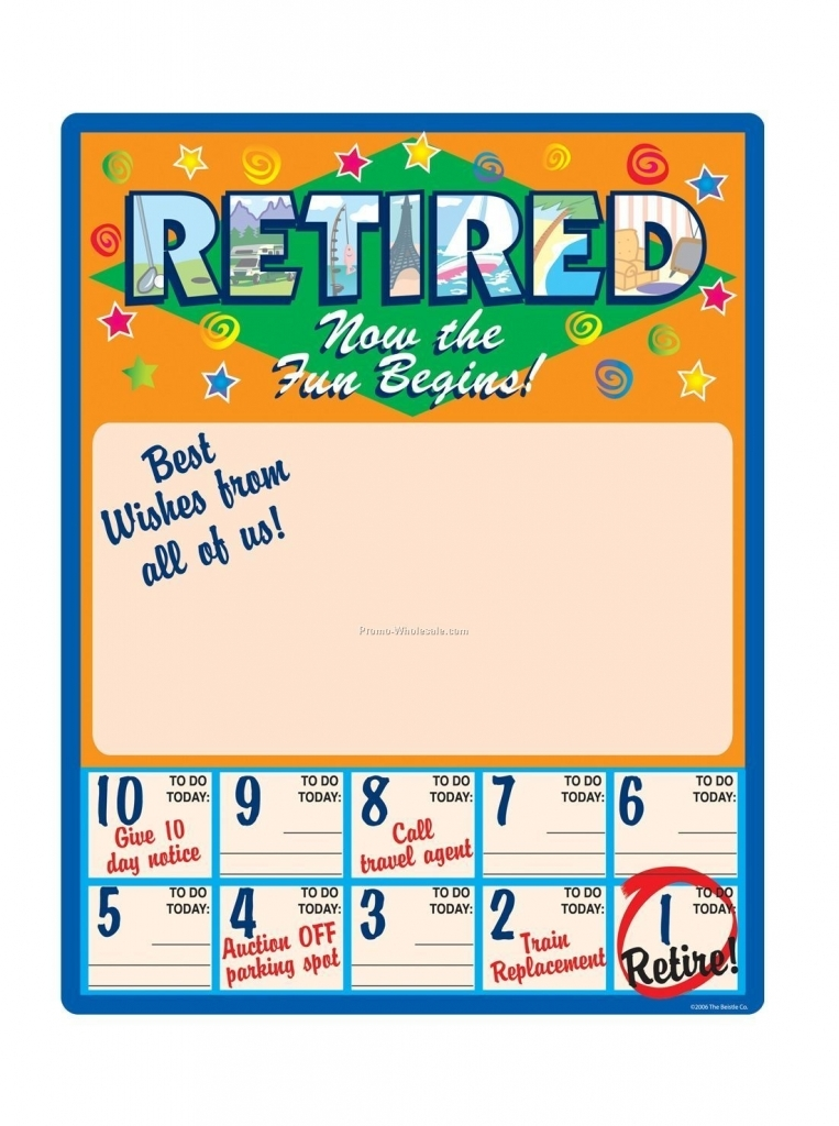 Retirement Free Printable Countdown Calendars