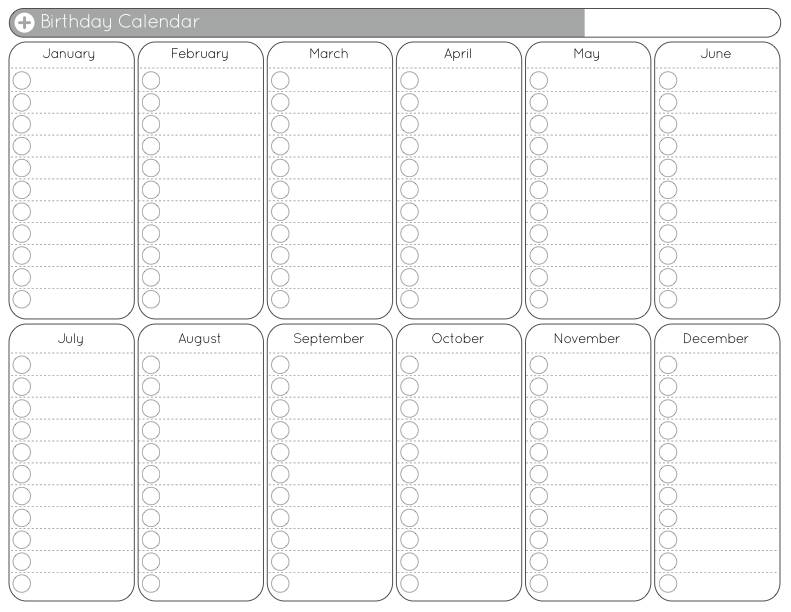 Templates Of Yearly Calendars
