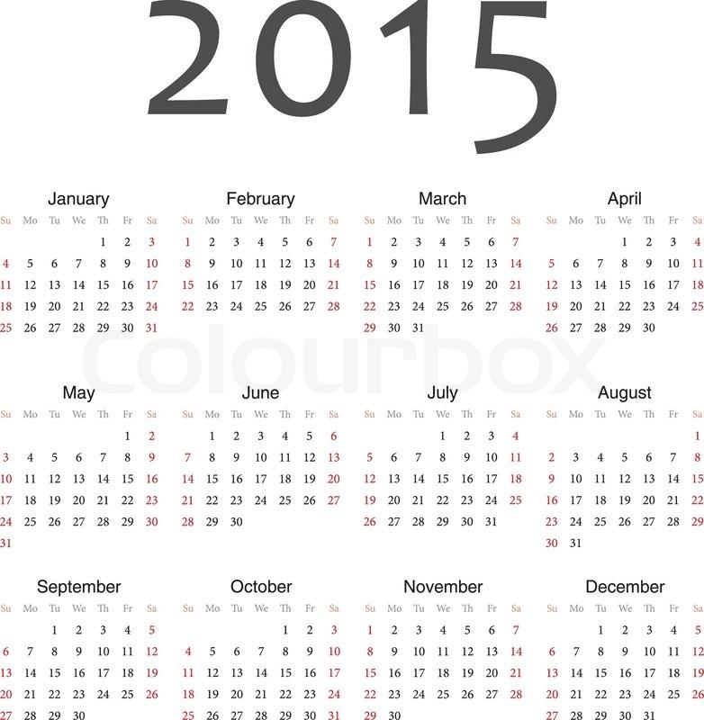12 month calendar 2017 template