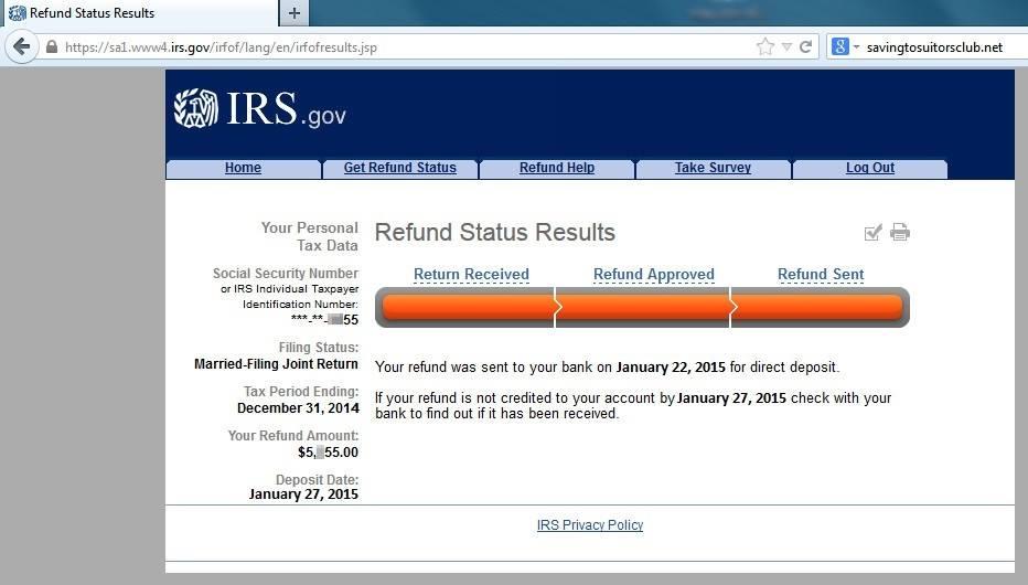 2015 Irs Tax Refund Schedule — Irs Set First Direct Deposit Dates