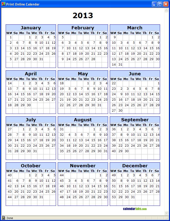 5 Best Images Of Printable Calendar With Week Numbers
