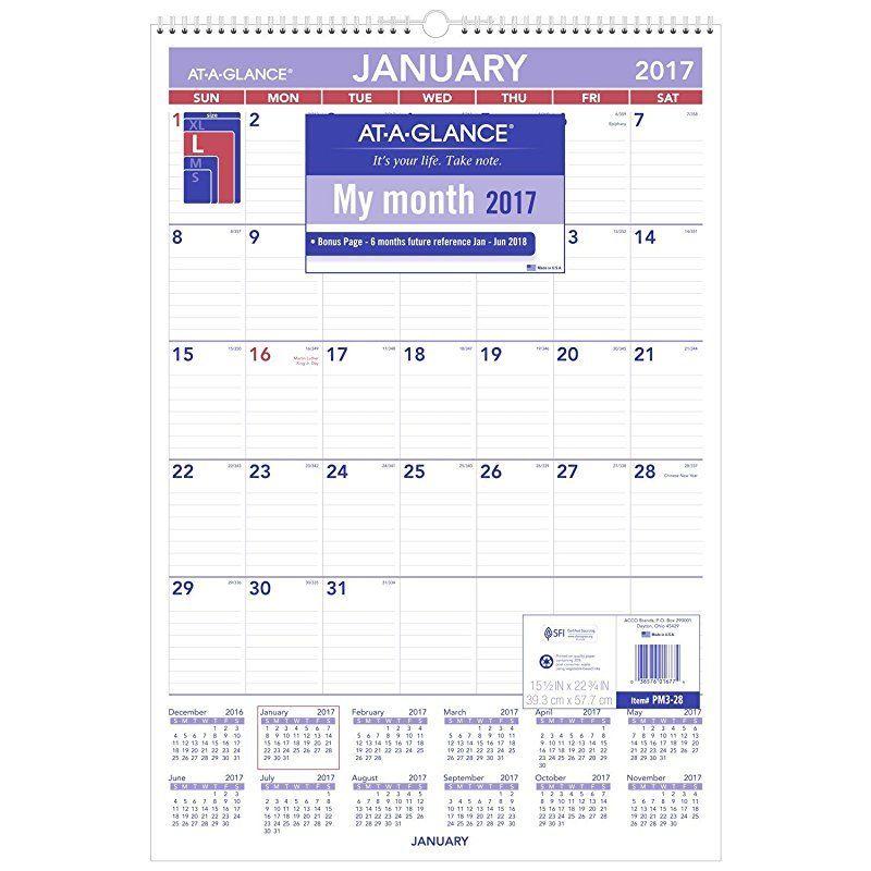 at a glance wall calendar calendar template 2018. Black Bedroom Furniture Sets. Home Design Ideas
