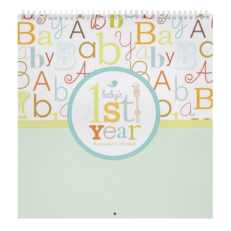 Baby First Year Calendar With Stickers