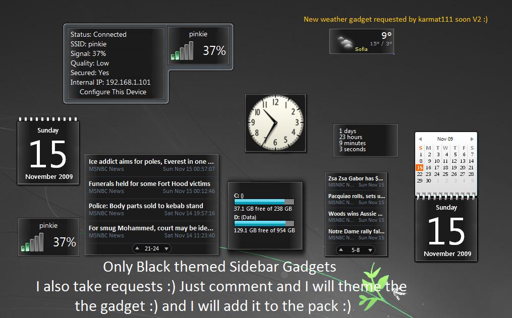 Browsing Sidebar Gadgets On Deviantart
