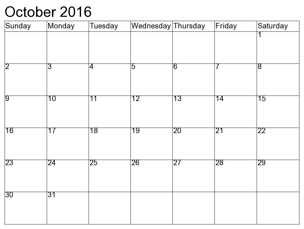 Calendar 2017 Template Free