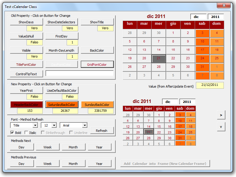 Calendar Control For All Office Versions