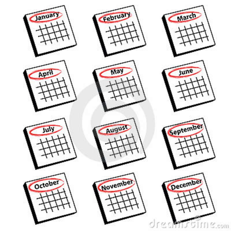 Calendar Months Clipart