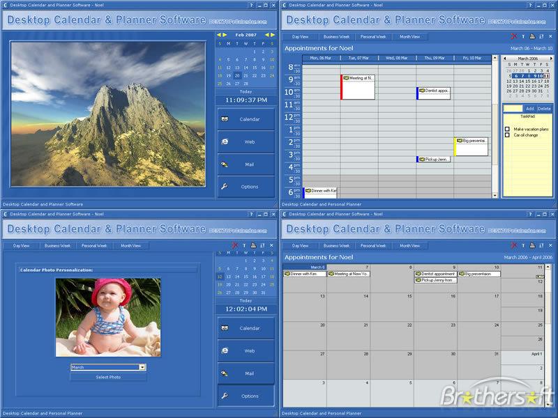 Download Free Desktop Calendar And Planner Software, Desktop