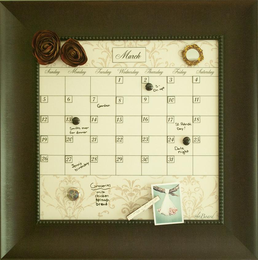 Dry Erase Calendars  Erasable Calendar