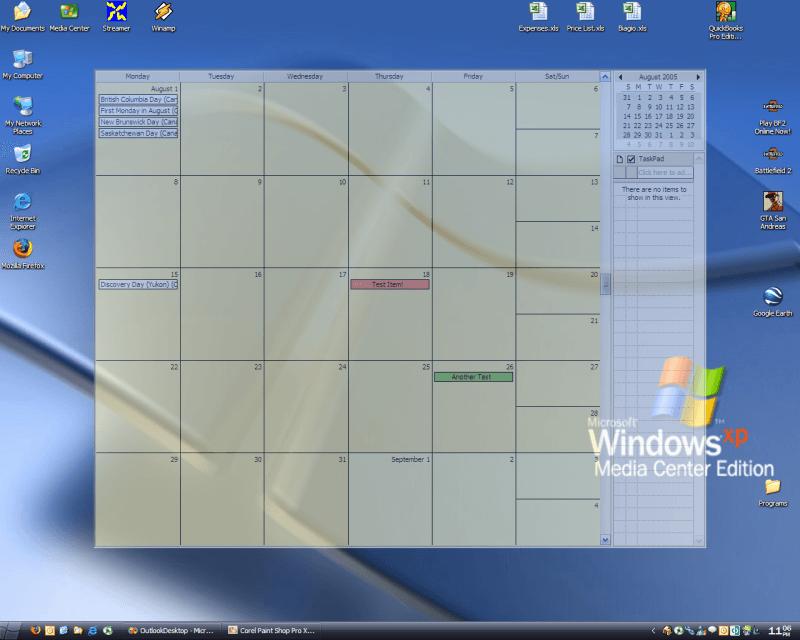 Google Calendar Gadget Windows 7