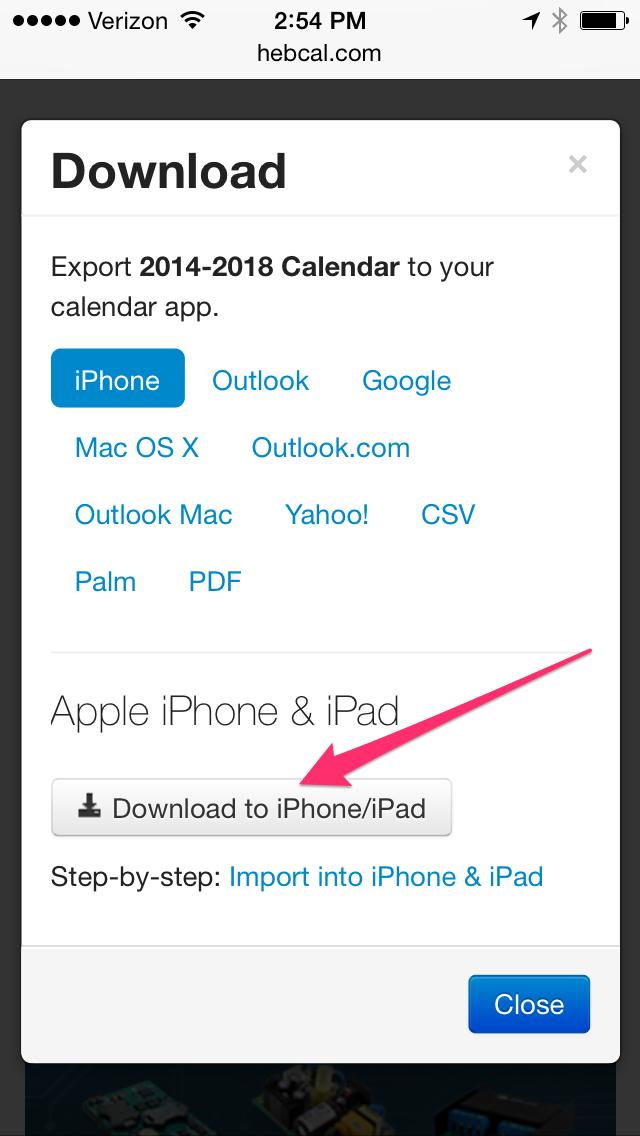 Iphone & Ipad Jewish Holidays Download