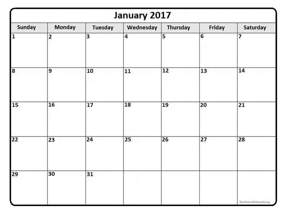 calendar december 2017 january 2017
