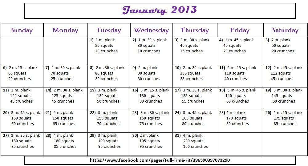 Jillian Michaels Day Shred Workout Calendar