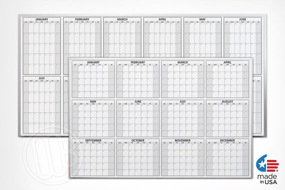 Magnetic Dry Erase Calendars