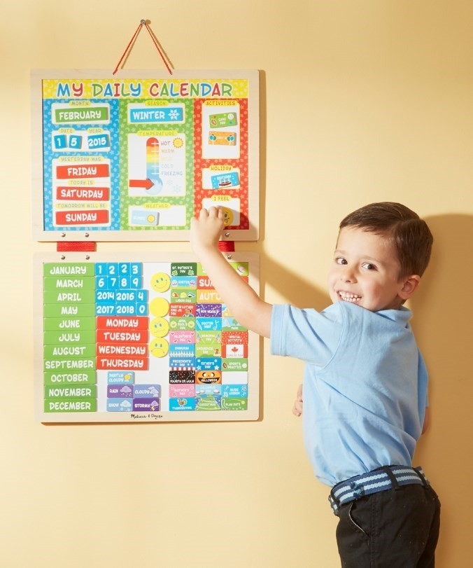 Melissa & Doug My First Daily Magnetic Calendar 9253 By Melissa