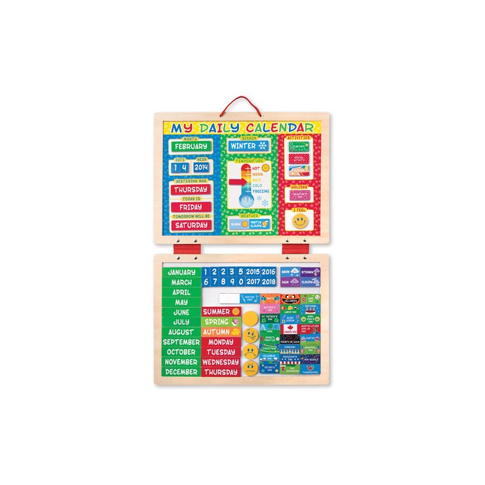 My First Daily Magnetic Calendar By Melissa & Doug