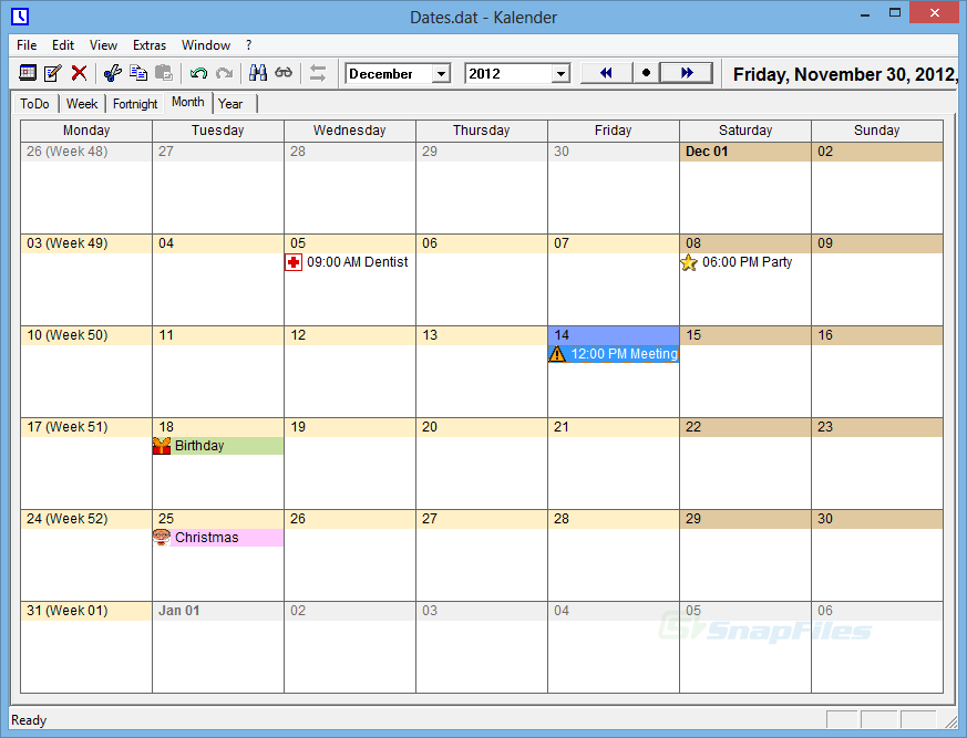Online Calendar Time And Date