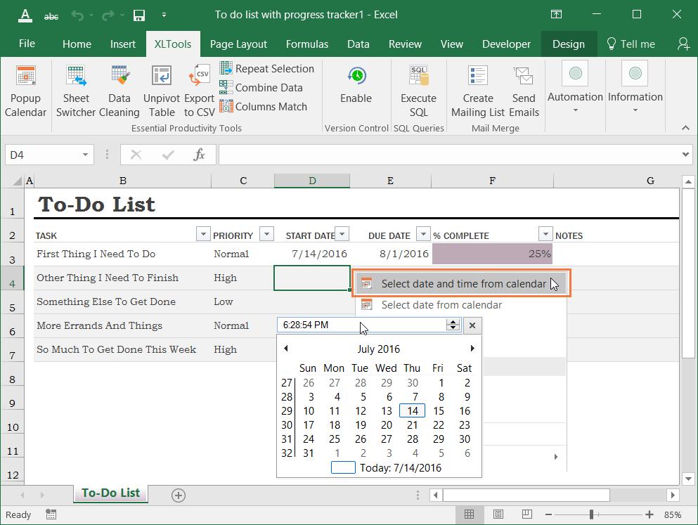 Popup Calendar For Excel