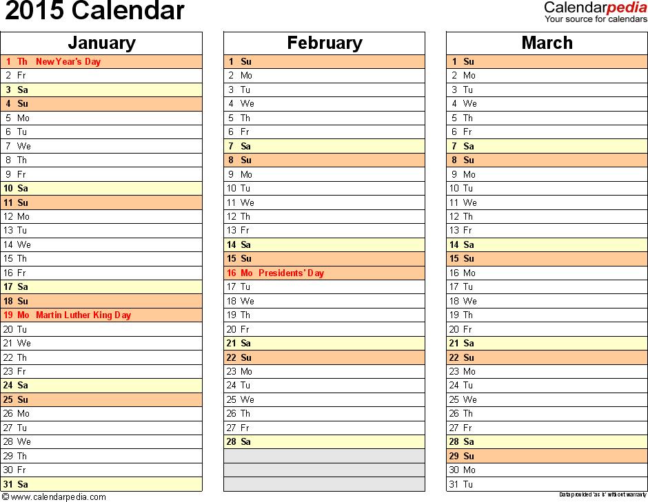 Printable 4 Month Calendar 6 20 Pm » Calendar Template 2017