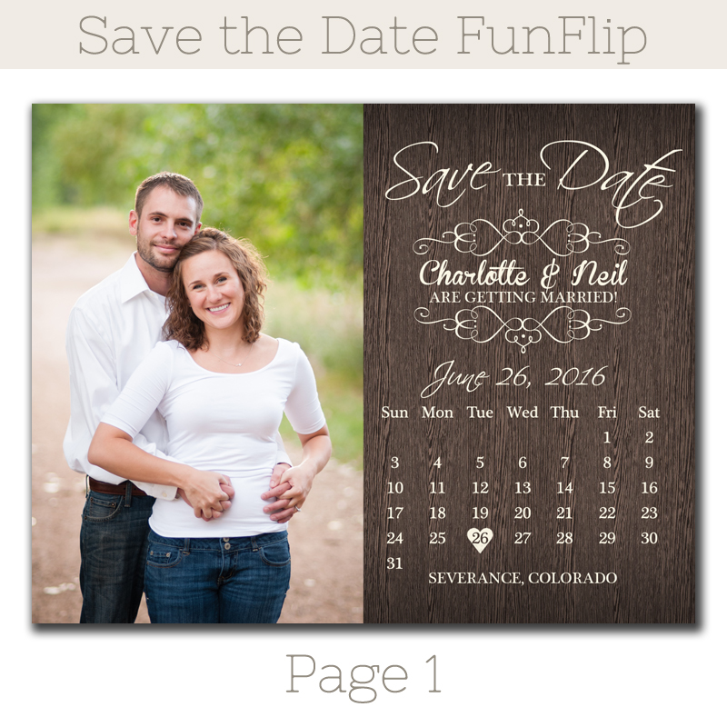 Rustic Calendar Save