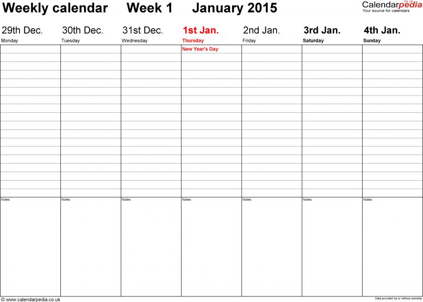 Two Week Schedule Template Planner Templat Two Week Employee