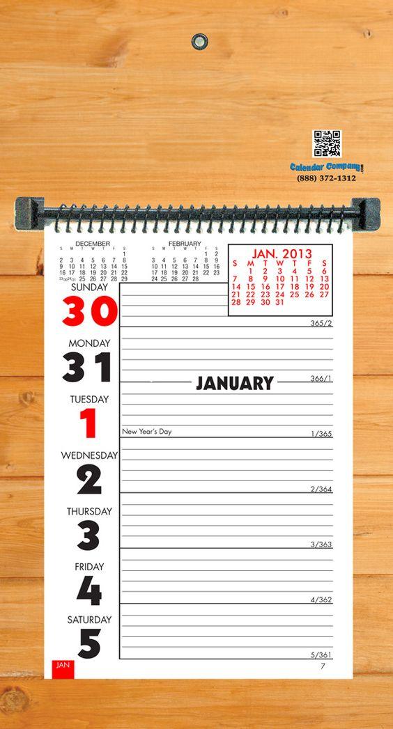 Wall Calendars, Calendar And The Back On Pinterest