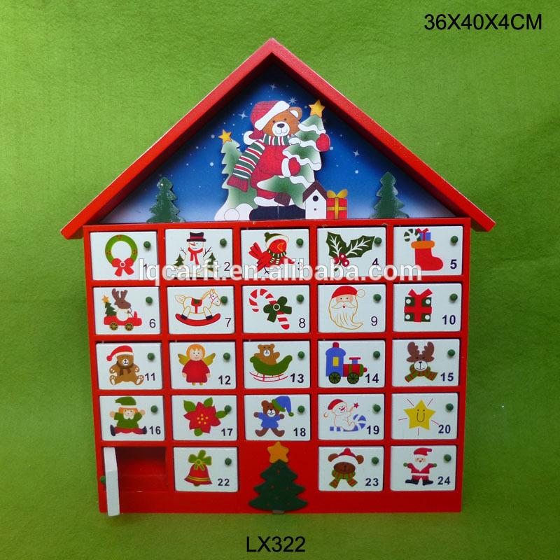Wooden House Advent Calendar, Wooden House Advent Calendar