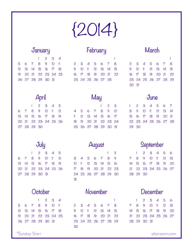 Year At A Glance Printable Calendar 12 25 Pm » Calendar Template 2017