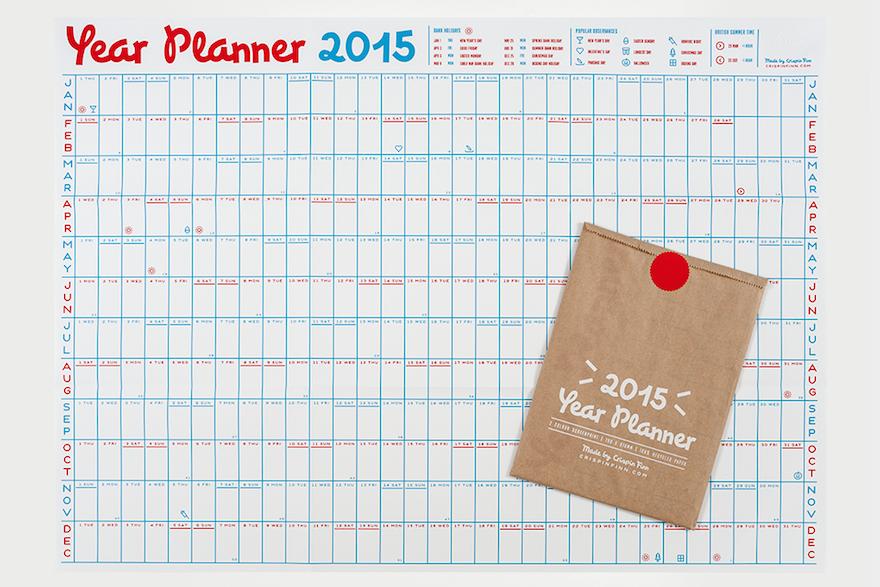 Year At A Glance Wall Calendar