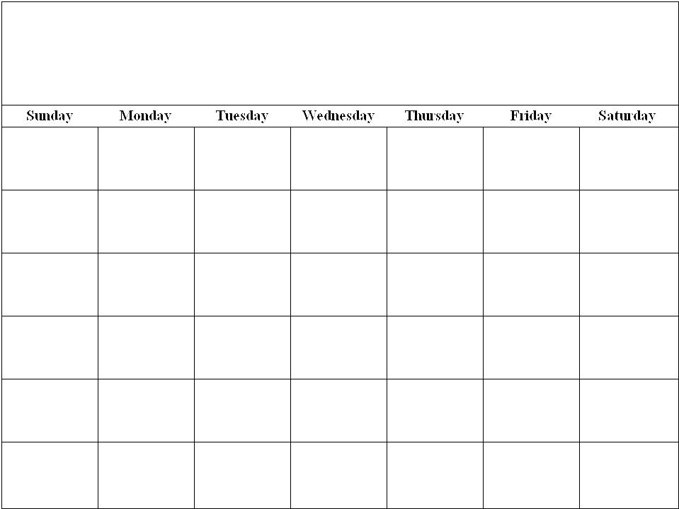 Make Your Own Printable Calendar » Calendar Template 2017