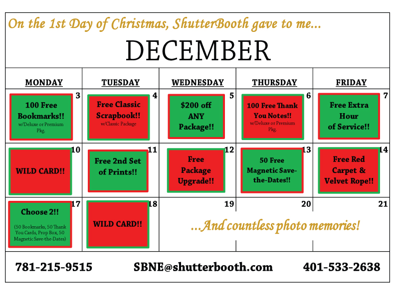 12 Days Of Shutterbooth!