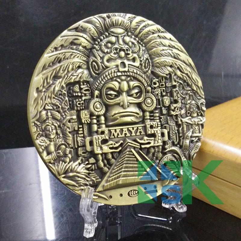 1pcs 80 10mm Mayan Calendar Prophecy Mayan Craft Old Cultural