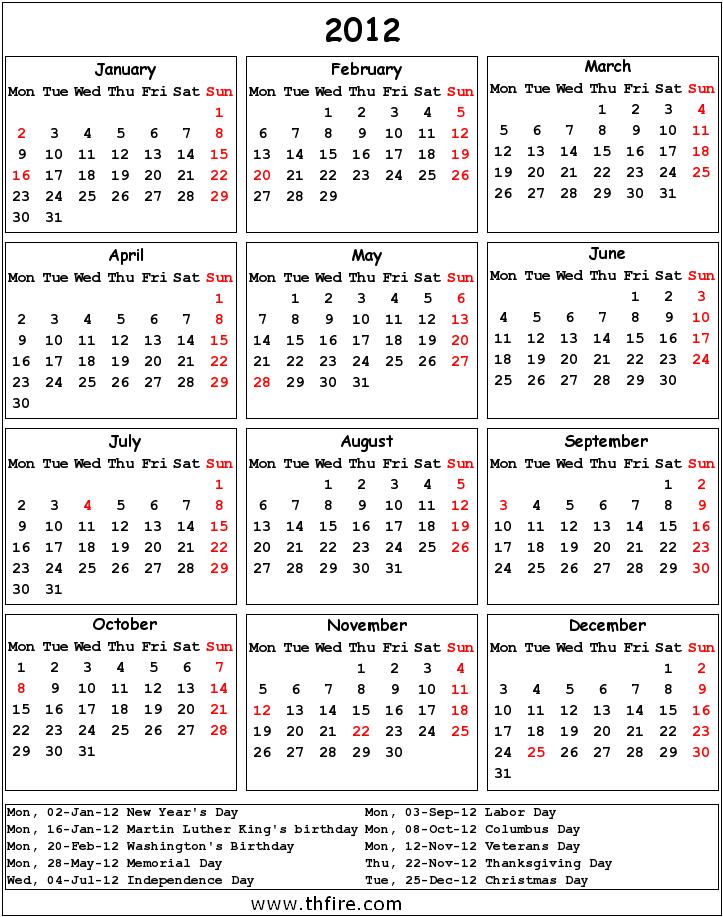 2012 Calendar!