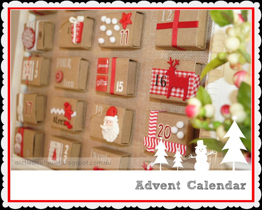 A Little Bit Of Quiet  Matchbox Advent Calendar