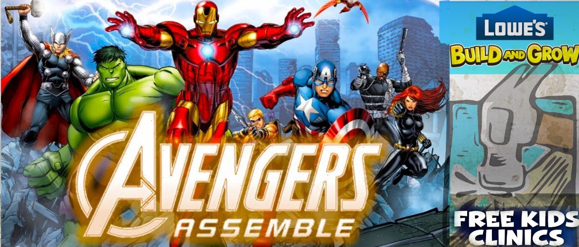 Avengers Free Kid's Workshop's In June Only At Lowes!!