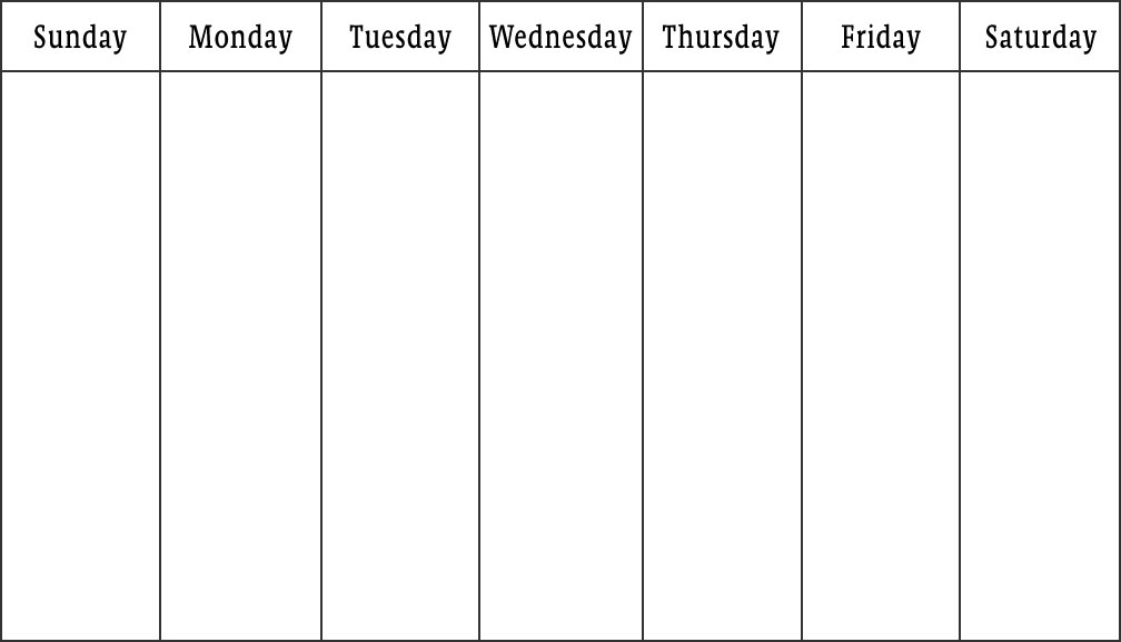 Best Photos Of 5 Day Monthly Calendar Template