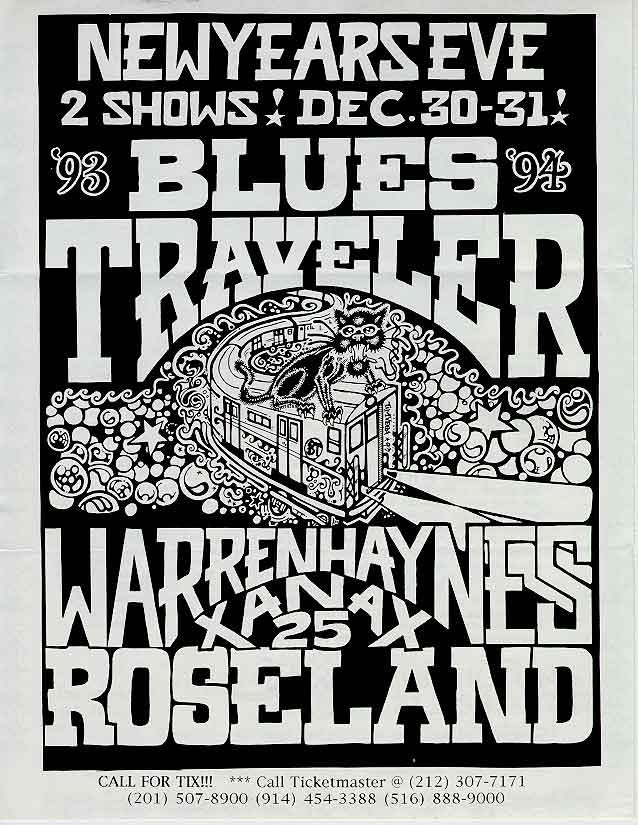 Blues Traveler Posters, Handbills And Fliers