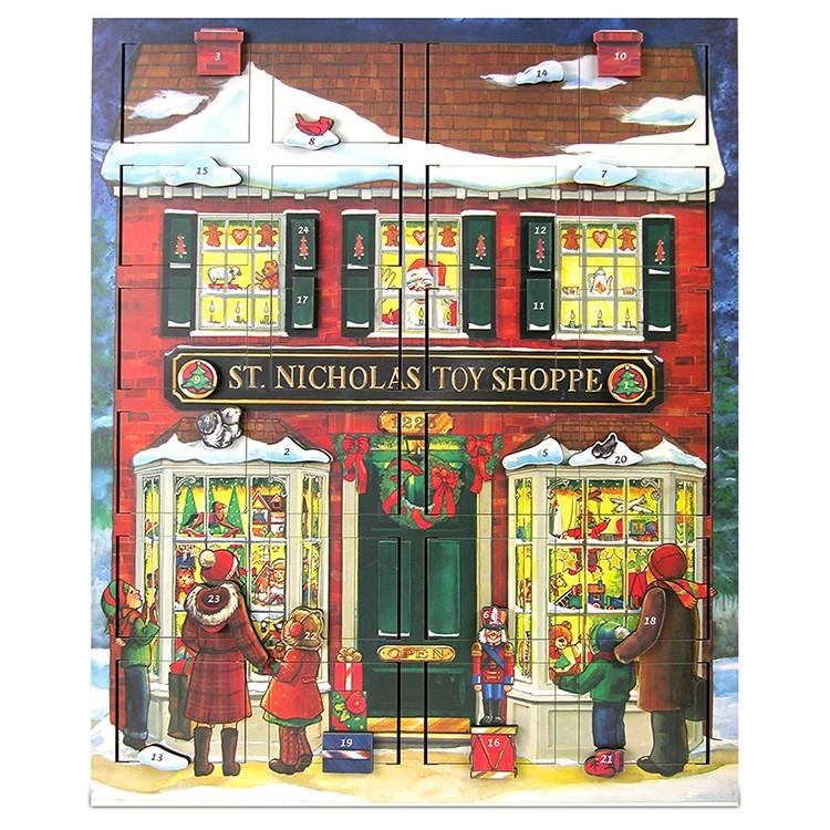 Byers' Choice St  Nick's Toy Shoppe Musical Advent Calendar