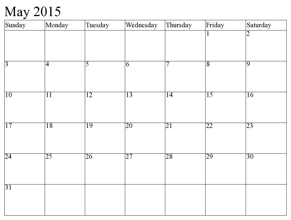 Calendar May And June 2015 5128