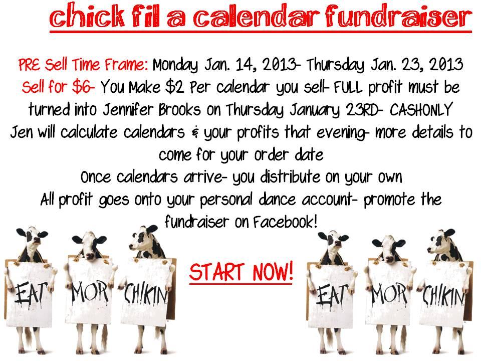 Chick Fil A Calendar Fundraiser