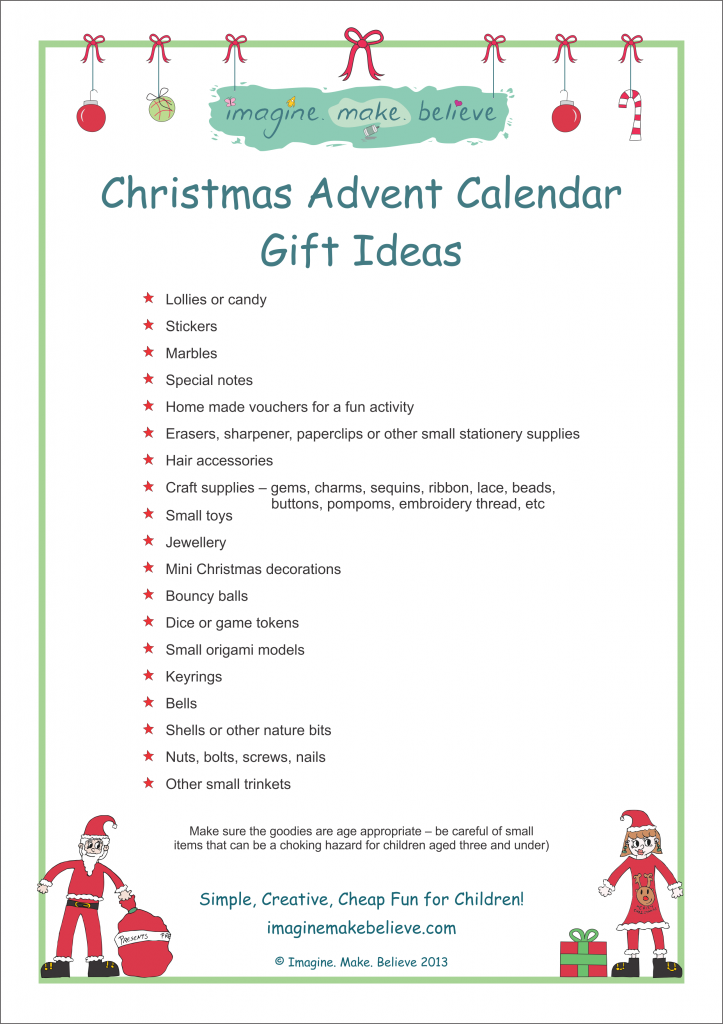 Calendar Ideas Y : Christmas advent calendar ideas template