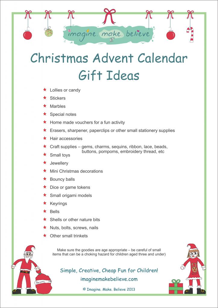 Calendar Ideas Y : Christmas advent calendar ideas template