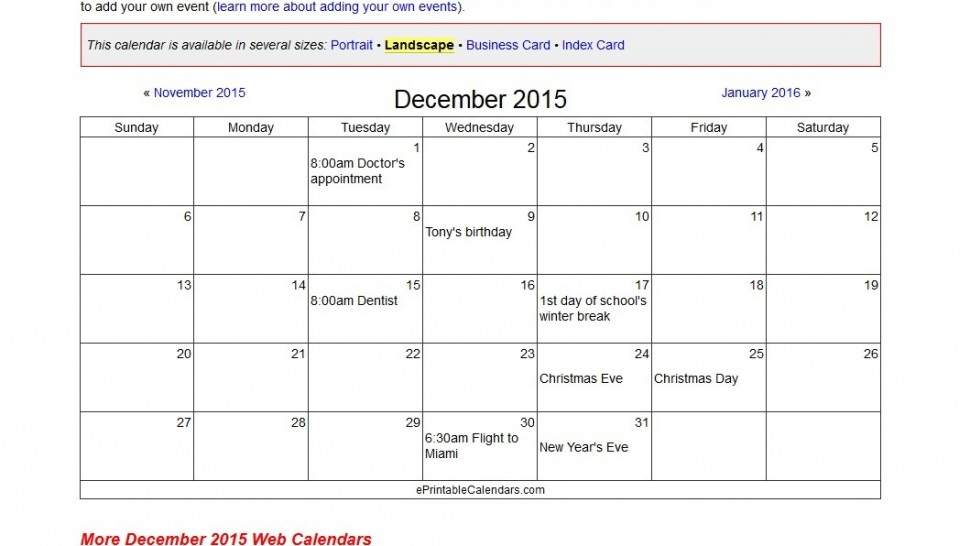 Create Your Own Online Calendar And Print It For Free