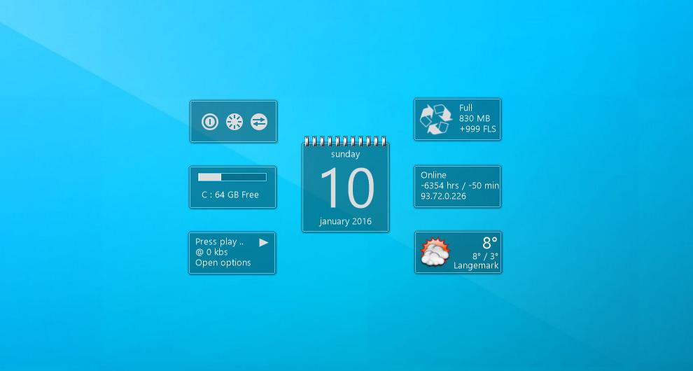 Desktop Gadgets And Widgets For Windows 7 8 10