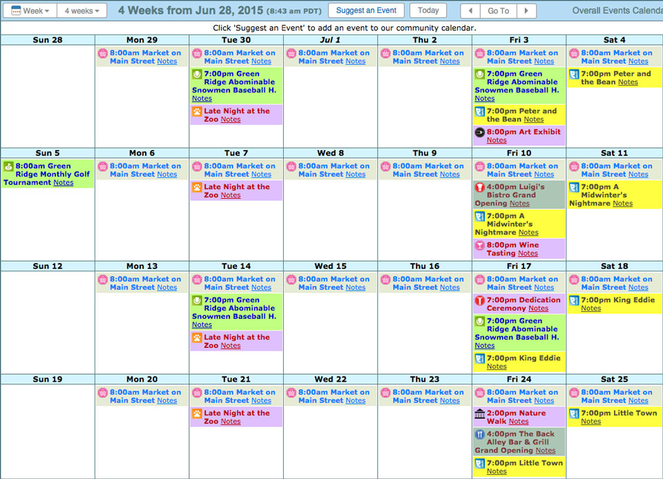 Easily Add An Html Calendar To Your Website