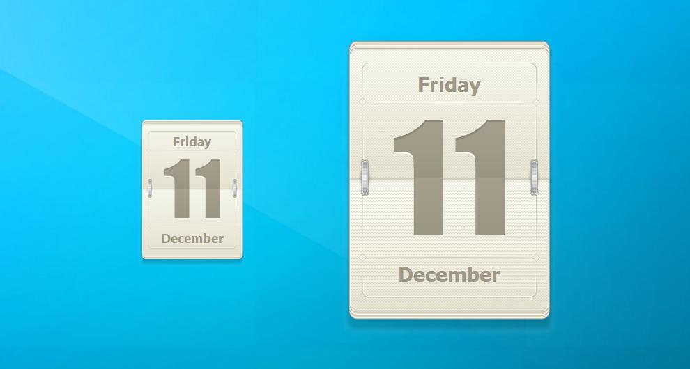 Fancy Calendar Gadget For Windows 7 8 10